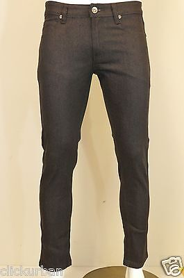 KAYDEN.K CHARCOAL GREY Men's Skinny Jeans Twill Denim Pants Size