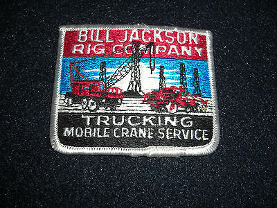 Bill Jackson Rig Company Trucking Mobile Crane Patch