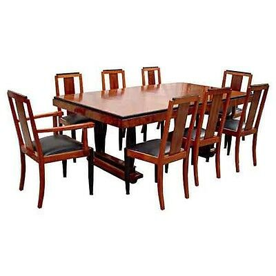 Fabulous Antique 9-Pc. Art Deco Dining Set #6116