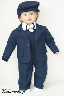 Baby Boy Christening Pageboy Formal Party Smart Suit Hat Outfit Waistcoat Navy