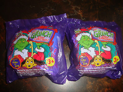 Wendy's---How The Grinch Stole Christmas---Lot Of 2---Sealed---2001---Lot #37