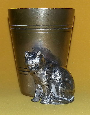 Wmf Silverplated Cat Figual Toothpick Holder
