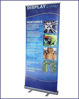 "33.5""x79.5"" Roll Up Retractable Banner Stand /Free Printing, Trade Show, R160"