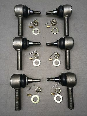 LAND ROVER SERIES 2, 2A & 3 GREASEABLE TRACK ROD END KIT SET of 6 - LR580