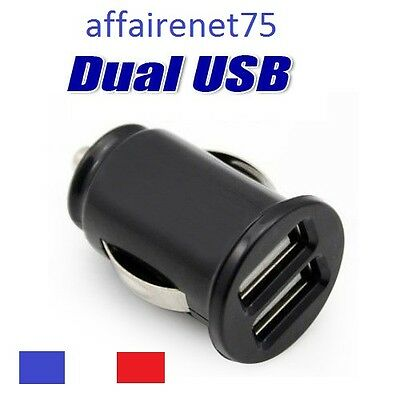 Chargeur Voiture Allume Cigare Double Ports Usb Dual Usb Neuf