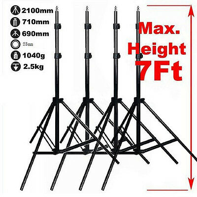 Photography 4PCS 2.1M Light Stand Flash Tripod For Photo Studio Lighting Kit Set