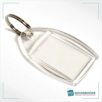 Clear Blank Acrylic Photo Keyring Insert Personalise - Plastic 35mm x 24mm (P5)