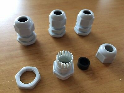 4 x IP68 Cable Gland For Project Boxes Stuffing Gland Power Multi Size 5 -11mm