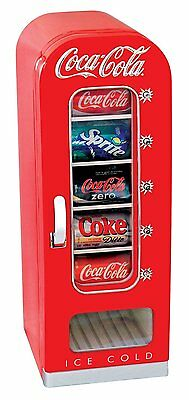 Koolatron Coca Cola Retro Vending Fridge Ten Can Capacity In Red CVF18 New