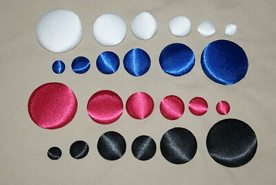 BEAUTIFUL SATIN FABRIC COVERED BUTTONS available 12, 15, 20, 25, 40, 30mm sizes