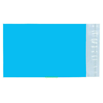 """Blue Poly Mailing Bags Postage Plastic Envelopes 4.3"""" x 7""""_110 x 180+40mm"""