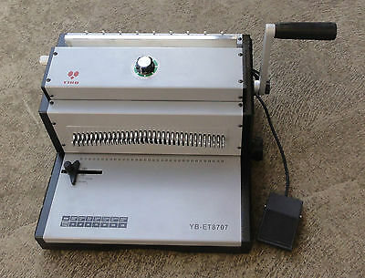 Electric Foot Pad Punching Wire Binding Machine 3:1 Pitch A3 Size Up