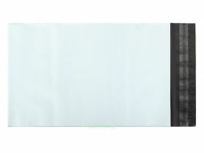 """White Poly Mailing Bags Postage Plastic Envelopes 6"""" x 9""""_155 x 235+45mm"""