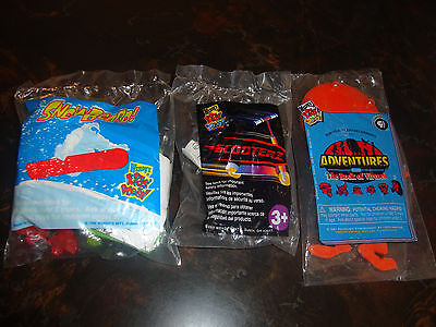 Wendy's--Lot Of 3--Snowboard 1998--Scooterz 2001---Maze 1997---Sealed---Lot #79