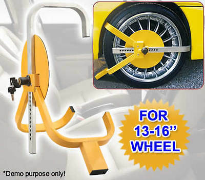 Car Auto Vehicle Caravan Trailer Anti Theft Safety Security Wheel Clamp Lock
