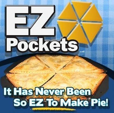 Ez Pockets Pie Pans Tools As Seen On TV Easy to Make Individual Recipe Guide