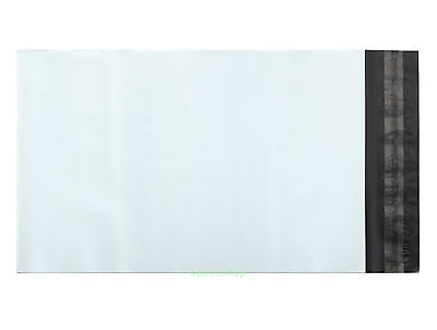 "White Poly Mailing Bags Postage Plastic Envelopes 10.5"" x 14.5""_270 x 370+45mm"
