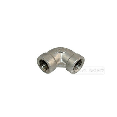 "1/8"" Elbow 90 Degree Angled Stainless Steel 304 Female Threaded Pipe Fitting BSP"