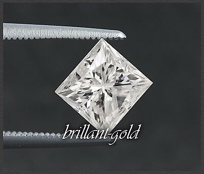 Traumhafter Princess-cut Diamant mit 0,73ct / Si / Top Wesselton G !