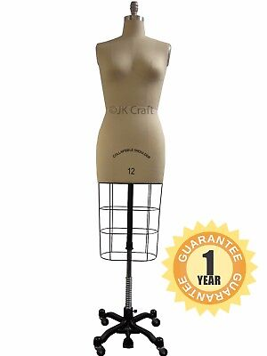 Professional Dressmakers Dummy Dressmakers Mannequin Dress Form Female Size 8