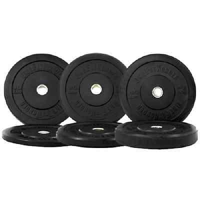 New 160 lbs Olympic Bumper Plates Weight Plates CrossFit Training OneFitWonder