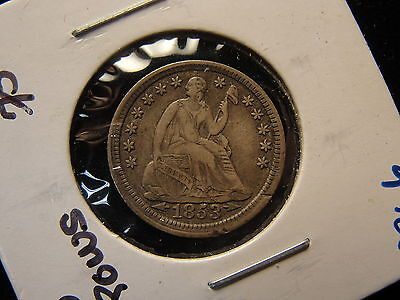 1853 Seated Liberty Silver Half Dime With Arrows XF Extra Fine #2366
