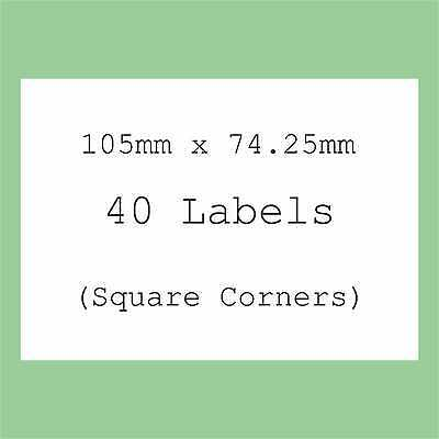5 A4 Sheets Blank Labels Round Square Oval Stickers Large Rectangles Stickers