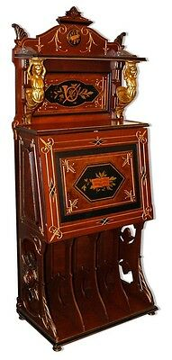 Inlaid Renaissance Music Cabinet w Bronze Mounts #6788