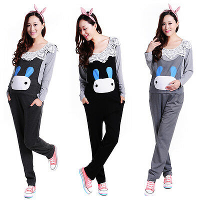 New Maternity Trousers Pants Overalls Dungarees Rabbit Cute Comfy 8 10 12 14
