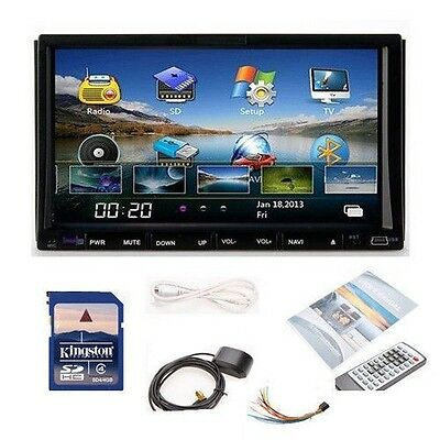 """Double Din 7""""In Dash Car DVD Player Radio Ipod TV Stereo GPS Navigation+US MAP"""