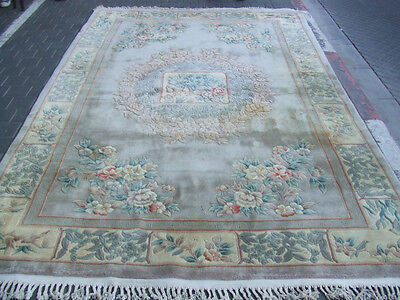 Beautiful hand-woven art deco Chinese Antiques Carpet rug 310x200-cm/122.0x78.7-
