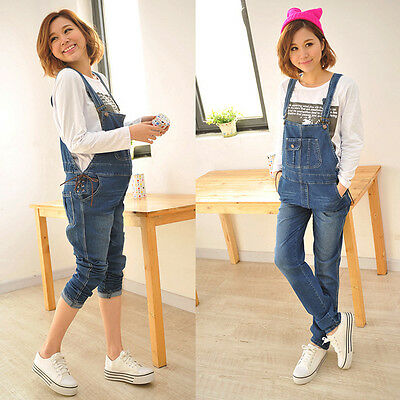 New Maternity Jeans Trousers Overalls Dungarees Denim Trendy Cute Classic 099
