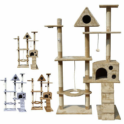 FoxHunter Kitten Cat Tree Scratching Post Activity Centre Bed Toy Scratcher 2200