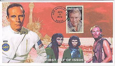 Jvc Cachets - 2014 Charlton Heston First Day Cover Fdc Movies Acting Topical #1