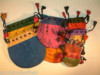 SILK POUCH ES 100% Drawstring, lined, for CRYSTALS or CHARM BAG (IS-PS56)