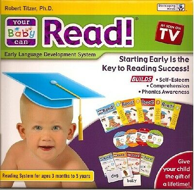 Your Baby Can Read Volumes1,2,3 & 4 Dvd's,Cards&Books Brand New Fast Free Ship