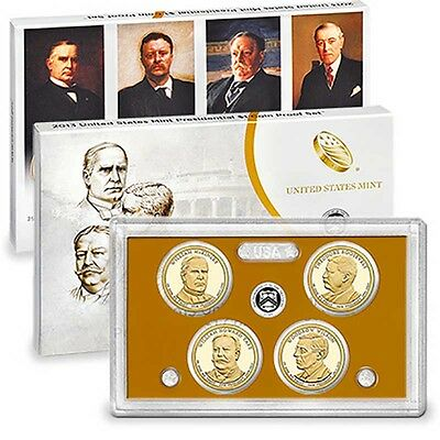 2013 Presidential 4-coin Proof Set with Original Government Packaging and CoA