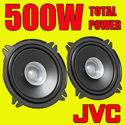 JVC 500W TOTAL 5 INCH 13cm Dual-Cone CAR DOOR SHELF COAXIAL SPEAKERS NEW PAIR