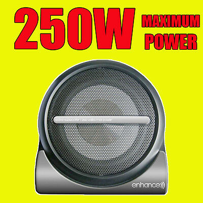 """Enhance Compact 250W Active Car Amplified Powered 8"""" Subwoofer Sub Bass Box+wire"""
