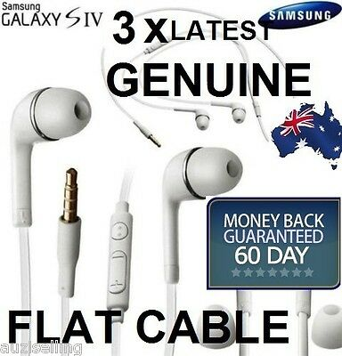 3X GENUINE Handsfree Headphone Earphone for Samsung Galaxy S7 S4 S5 S6 Note 4