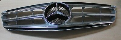 Genuine Mercedes-Benz W204 C-Class Silver Radiator Sports Grille NEW