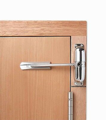 Surface Mounted Chrome Spring Door Closer 30 min 1/2hour left or right fire door