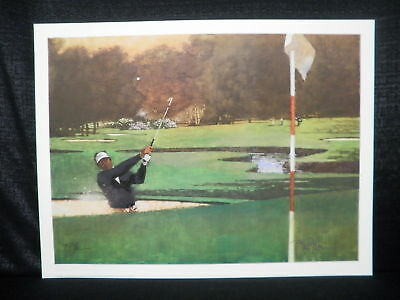 Bart Forbes Sand Wedge Seve Ballesteros Golf Lithograph
