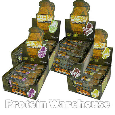 Grenade Reload Protein Flapjack 12 x 70g Energy Bar All Flavours Free Delivery