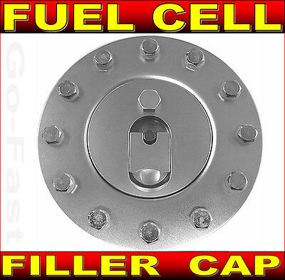 Fuel Cell Filler Cap & Assembly - Flush Mount Aluminium 12 Bolt Fuel Filler Cap