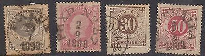 (Q1-35) 1872-6 Sweden mix of4 40 RE to 50 Ore