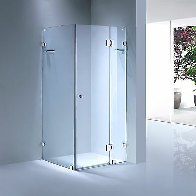 Square Frameless Shower Screen / Cubical - 10 mm Toughened Glass