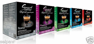 100  Nespresso Espresso Capsules Compatible Smart Coffee - Variety Pack 5 Blends