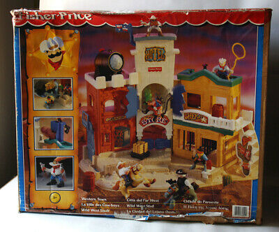 Very Rare Vintage 1997 Fisher Price Western Town Wild West New Mib !
