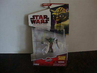 Star Wars---The Clone Wars---Yoda---CW14---With Lightsaber--2009--Factory Sealed